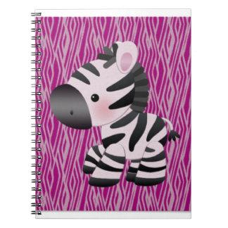 cute_zebra_pink_animal_print_ notebooks