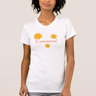 Cuteness - Orange Daisy Cut-out a Tee Shirt