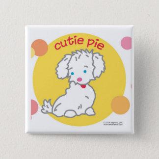 Cutie Pie 15 Cm Square Badge