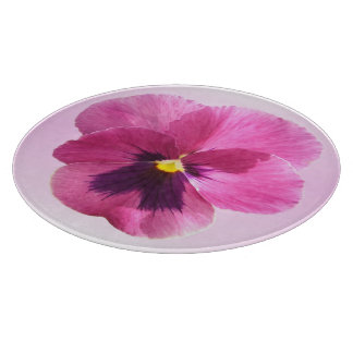 Cutting Board - Dark Pink Pansy