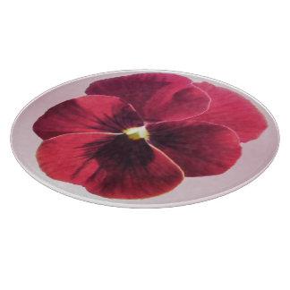 Cutting Board - Dark Red Pansy