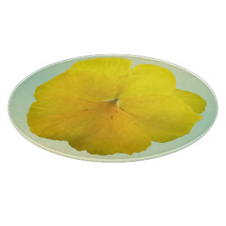 Cutting Board - Pencilled Yellow Pansy