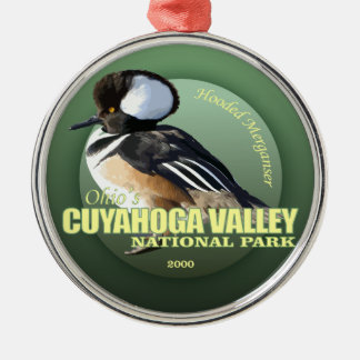 Cuyahoga Valley NP (Hooded Merganser) WT Silver-Colored Round Decoration