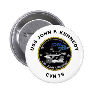 CVN-79 USS John Kennedy 6 Cm Round Badge