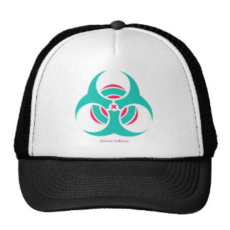 Cyan and Pink Bio-hazard Hat