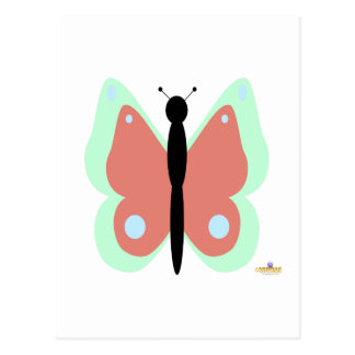 Cyan And Pink Butterfly Postcard