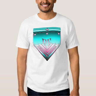 Cyan and Pink Renegade Enigma Crest Shirt