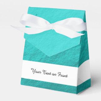 Cyan Aqua Blue Foil Printed Party Favour Box