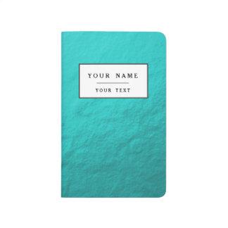Cyan Aqua Blue Foil Printed Journals