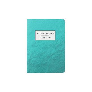 Cyan Aqua Blue Foil Printed