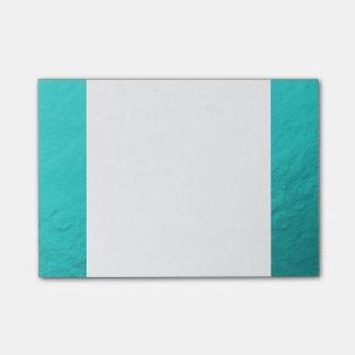 Cyan Aqua Blue Foil Printed Post-It Notes