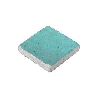 Cyan Aqua Blue Foil Printed Stone Magnet