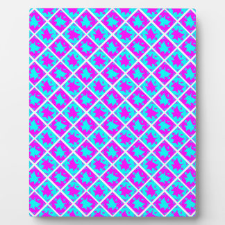 Cyan & Pink abstract Design Display Plaques