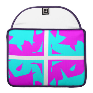 Cyan & Pink abstract Design MacBook Pro Sleeve
