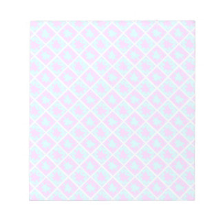 Cyan & Pink abstract Design Memo Note Pad