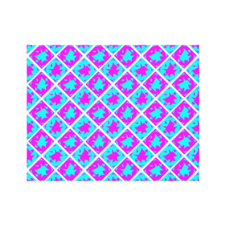 Cyan & Pink abstract Design Stretched Canvas Print