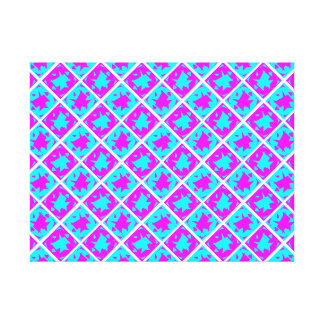 Cyan & Pink abstract Design Stretched Canvas Prints