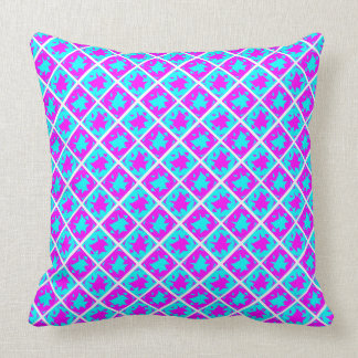 Cyan & Pink abstract Design Throw Cushions