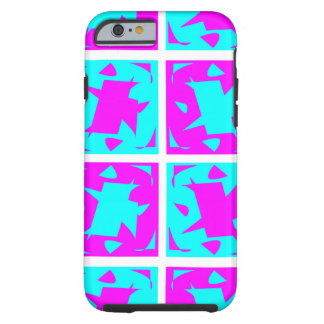 Cyan & Pink abstract Design Tough iPhone 6 Case