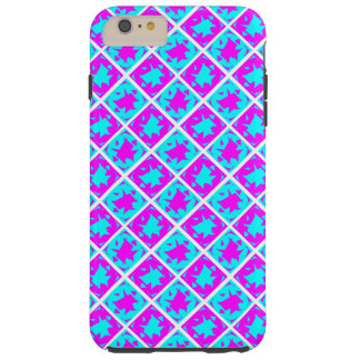 Cyan & Pink abstract Design Tough iPhone 6 Plus Case