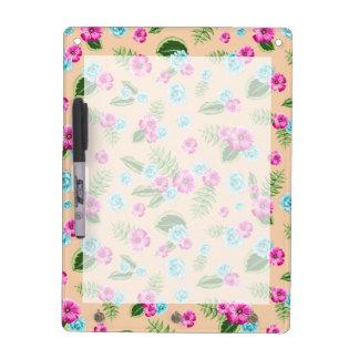 Cyan x Pink Flowers Pattern Dry Erase Boards