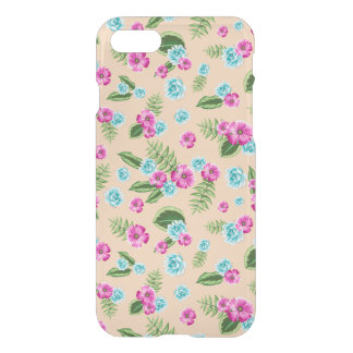 Cyan x Pink Flowers Pattern iPhone 7 Case