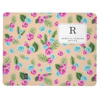 Cyan x Pink Flowers Pattern Journals