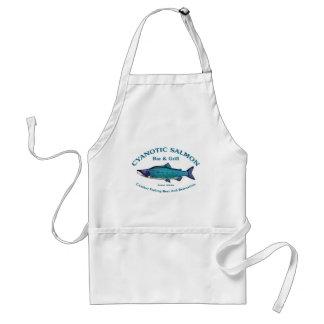 Cyanotic Salmon Bar Grill Apron