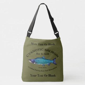Cyanotic Salmon Bar & Grill Crossbody Bag