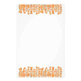 Cyber Garden - Orange Stationery