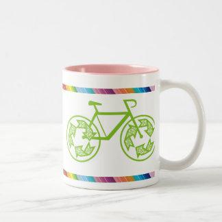 Cycle Recycle Two-Tone Mug