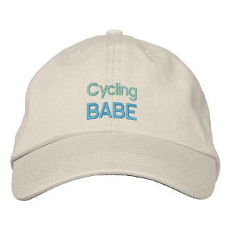 CYCLING BABE cap Embroidered Hat
