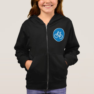 Cycling Road Sign Girls Hoodie