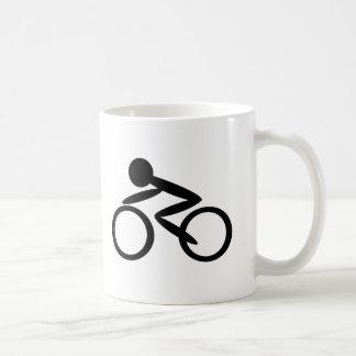 Cycling Stick Figure Mugs