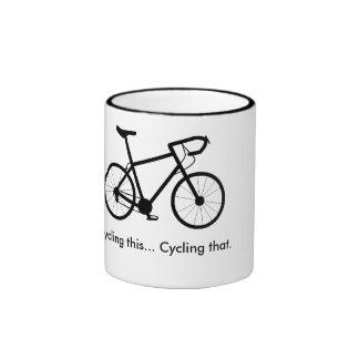 Cycling this, cycling that bike mug