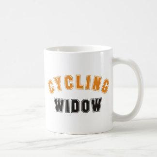 cycling widow coffee mug