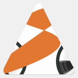 cyclist triangle sticker