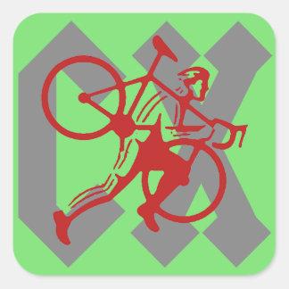 Cyclocross Square Sticker
