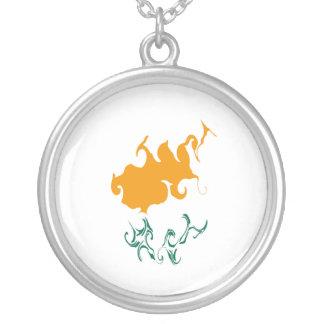 Cyprus Gnarly Flag Custom Necklace