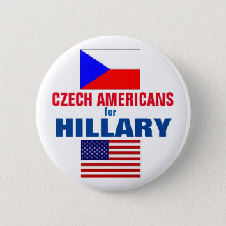Czech Americans for Hillary 2016 6 Cm Round Badge