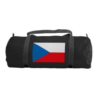 Czech Republic Flag Gym Duffel Bag