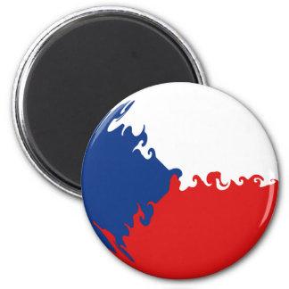 Czech Republic Gnarly Flag Refrigerator Magnets