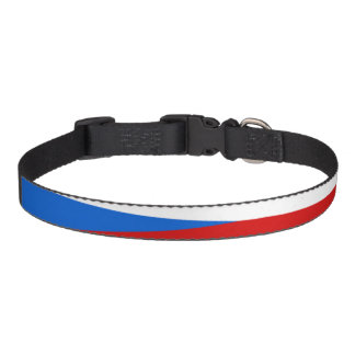 Czech Republic stripes flag Pet Collar