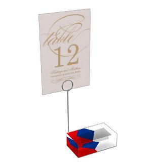 Czech Republic Table Card Holder