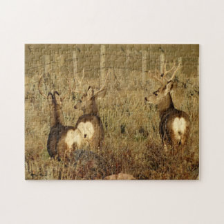 D0030 Mule Deer Bucks Jigsaw Puzzle