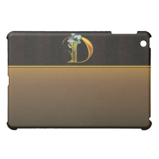 D Gold Iris Monogram  iPad Mini Case