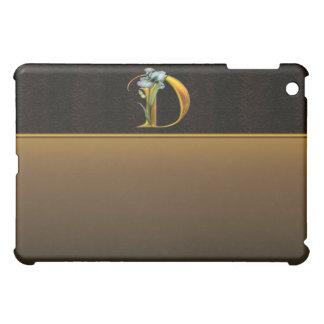 D Gold Iris Monogram  iPad Mini Case