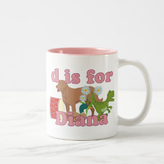 D is for Diana Two-Tone Coffee Mug