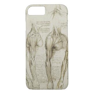 Da Vinci's Human Arm Anatomy Sketches iPhone 8/7 Case