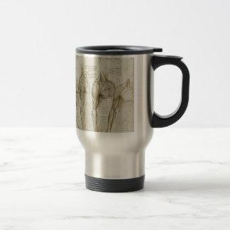 Da Vinci's Human Skeleton Anatomy Sketches Travel Mug